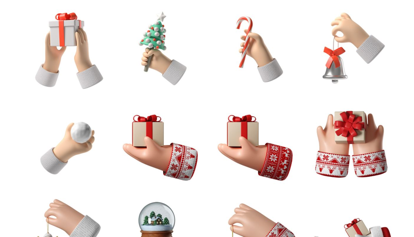 Iconos 3D gratis para Navidad