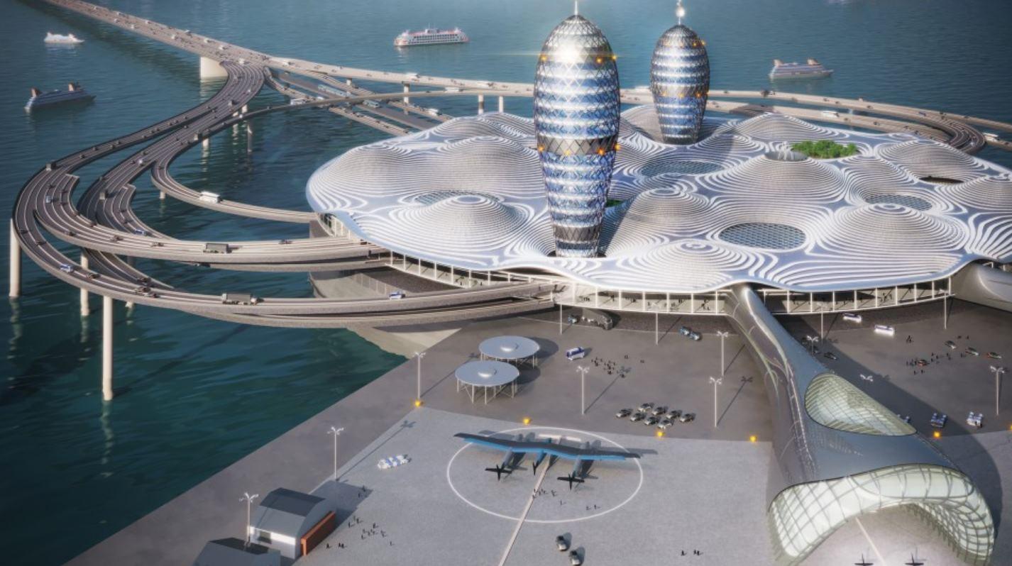 Imágenes del posible mayor centro de turismo espacial del mundo