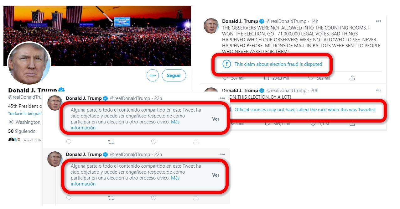Trump podría ser eliminado de Twitter en enero