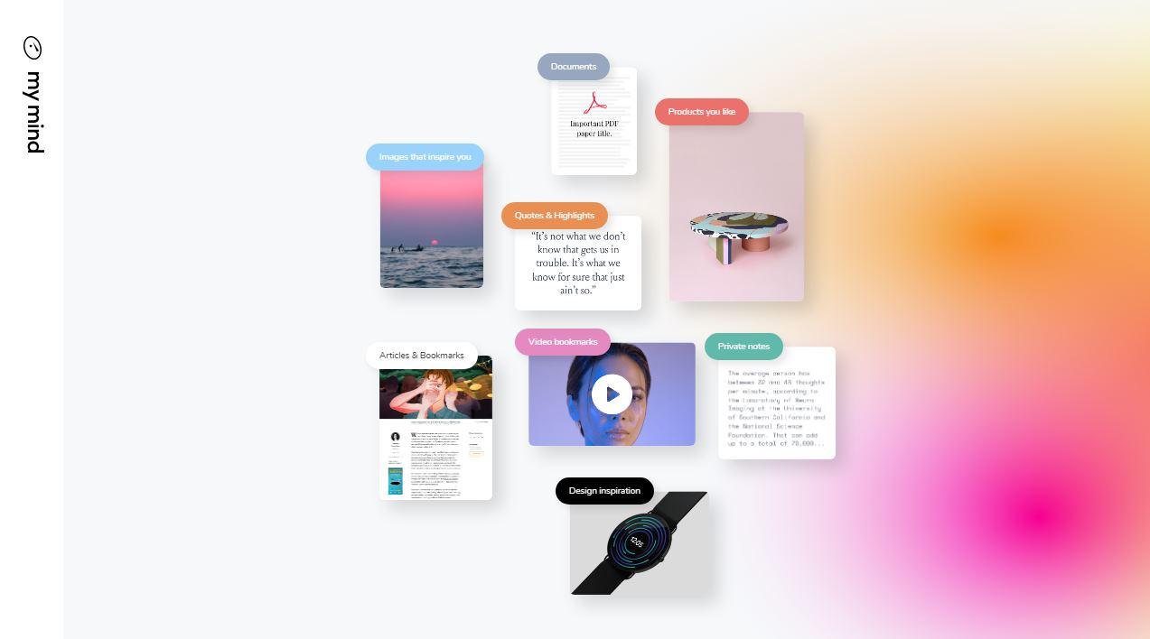 MyMind, una forma privada de guardar lo que encontramos en la web y encontrarlo con IA