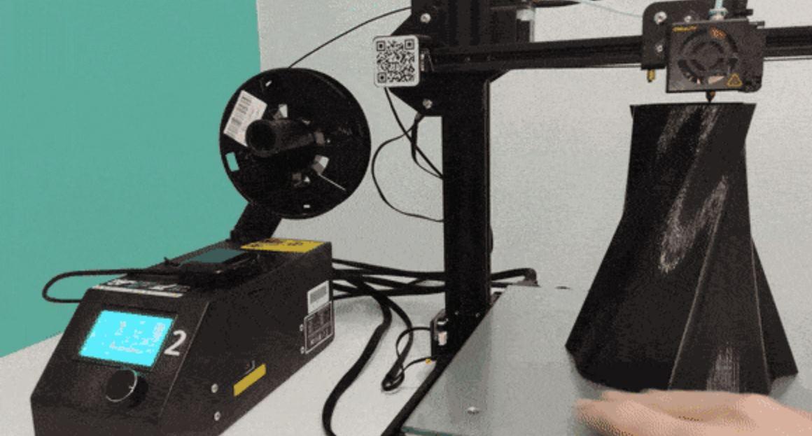 Dispositivo de inteligencia artificial diseñado para detectar y detener errores de impresión 3D