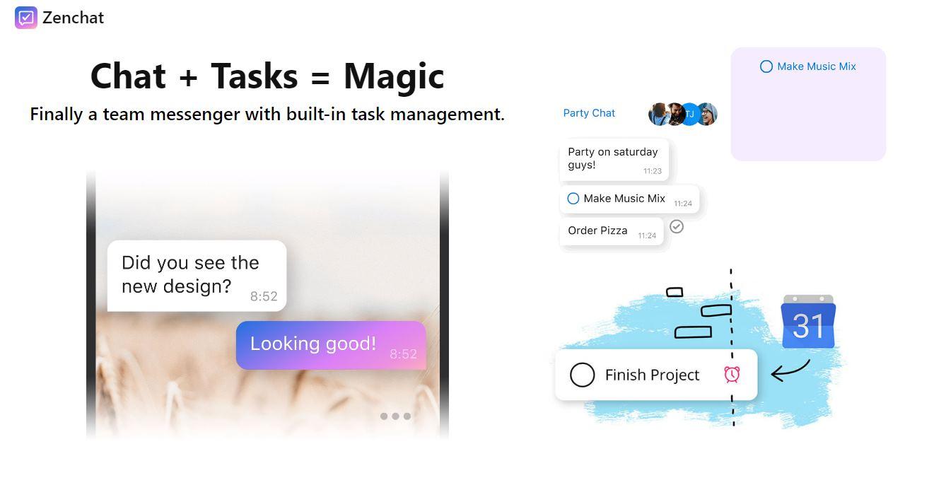 Zenchat, un chat donde cada conversación puede transformarse en tarea