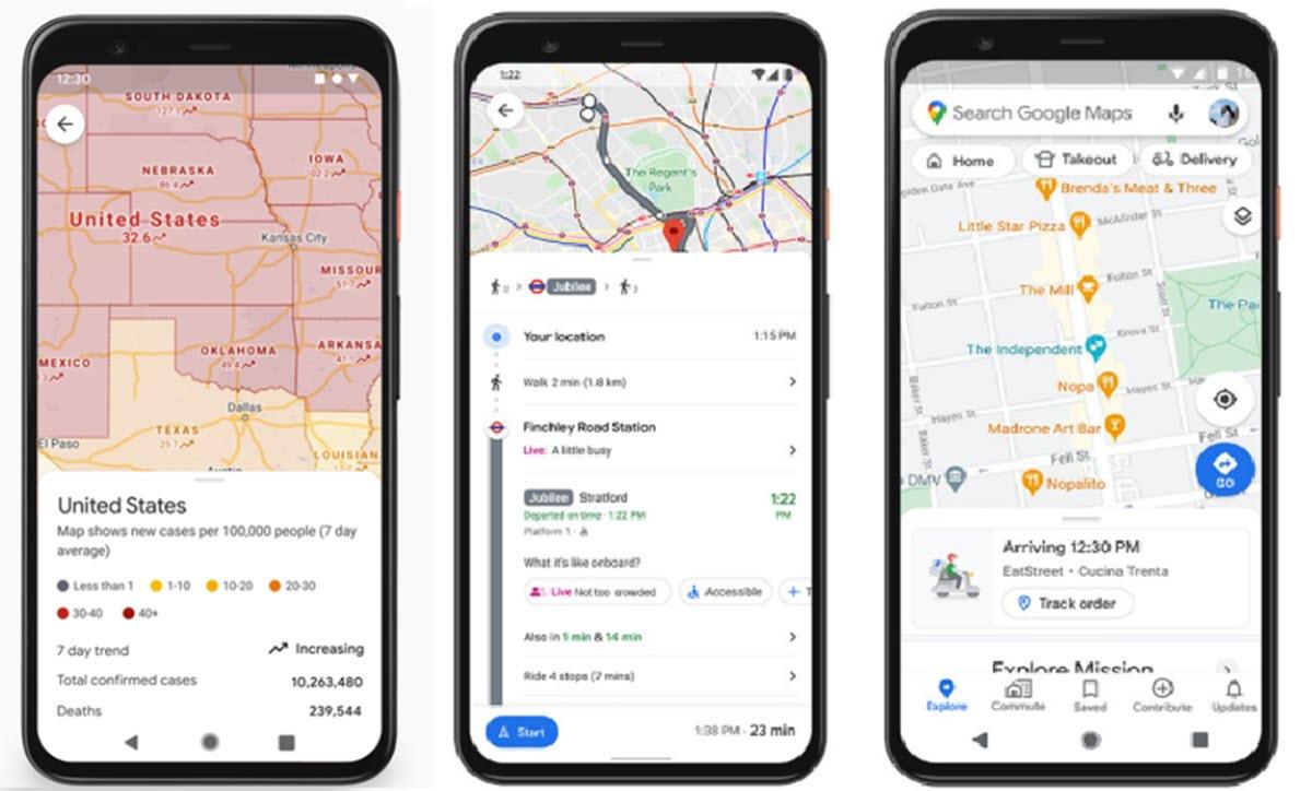 Google Maps muestra más datos en tiempo real sobre COVID-19 para evitar contagios