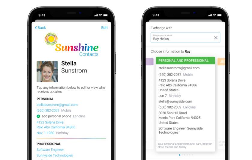 unciones Sunshine Contacts