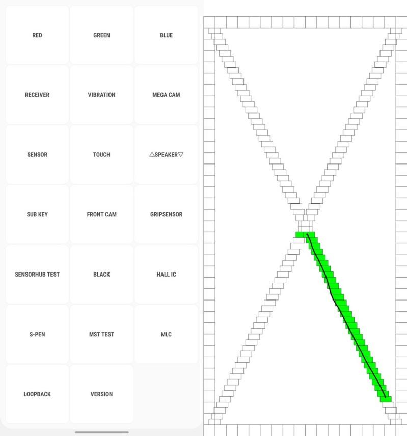 menu comprobacion de telefono inteligente samsung galaxy