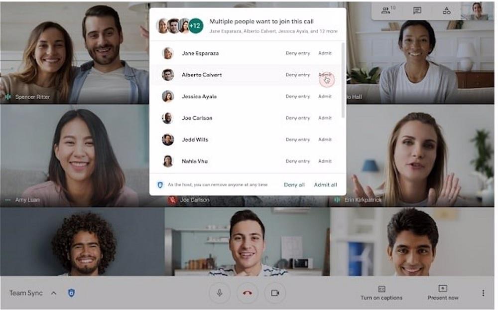 Aceptar en bloque videollamadas Google Meet