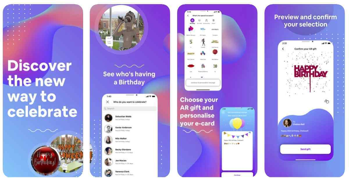 Para celebrar cumpleaños y otros eventos mediante Realidad Aumentada