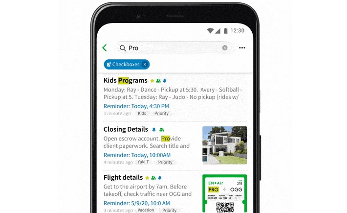 Improved Evernote search