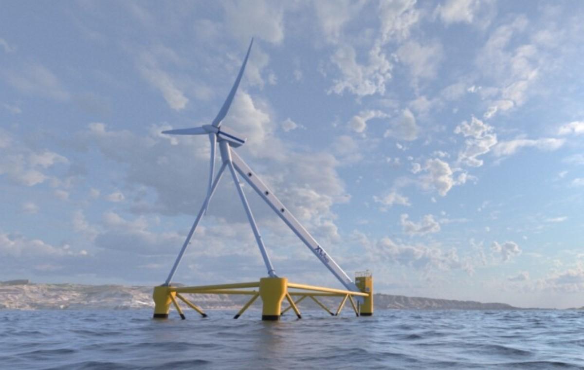 Crean en España sistema eólico flotante que obtiene energía del mar