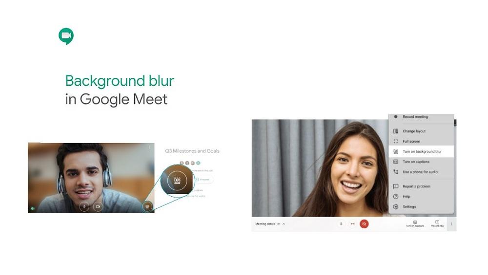 Desenfocar fondo Google Meet