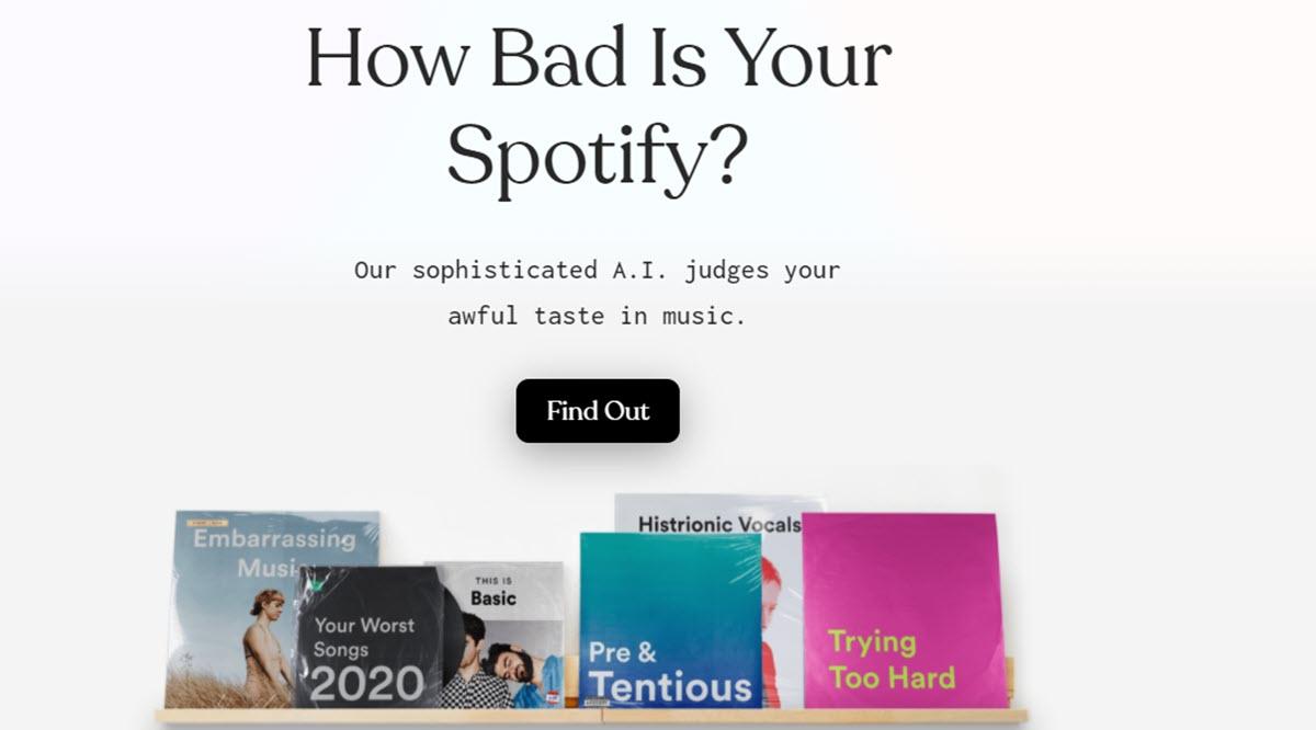 Esta IA se burla de tus gustos musicales mientras analiza tu cuenta de Spotify