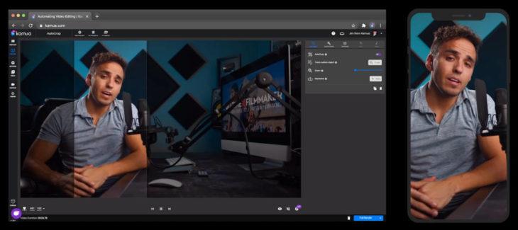 Un editor de vídeos con IA, para adaptar fácilmente videos al formato vertical