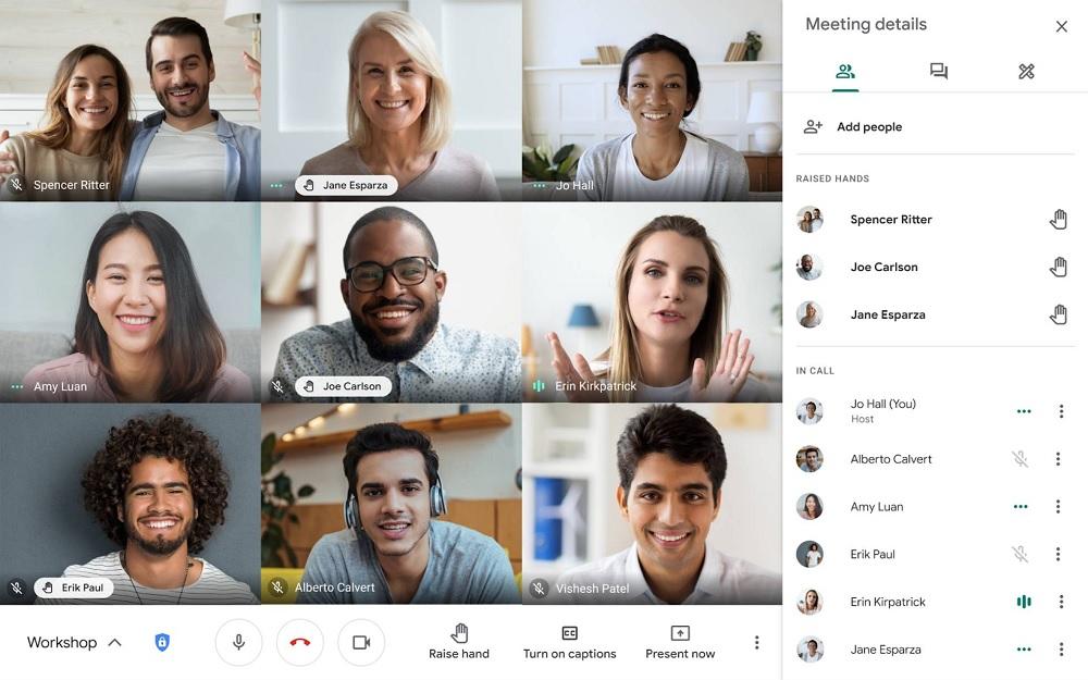 Levantar la mano para hablar Google Meet