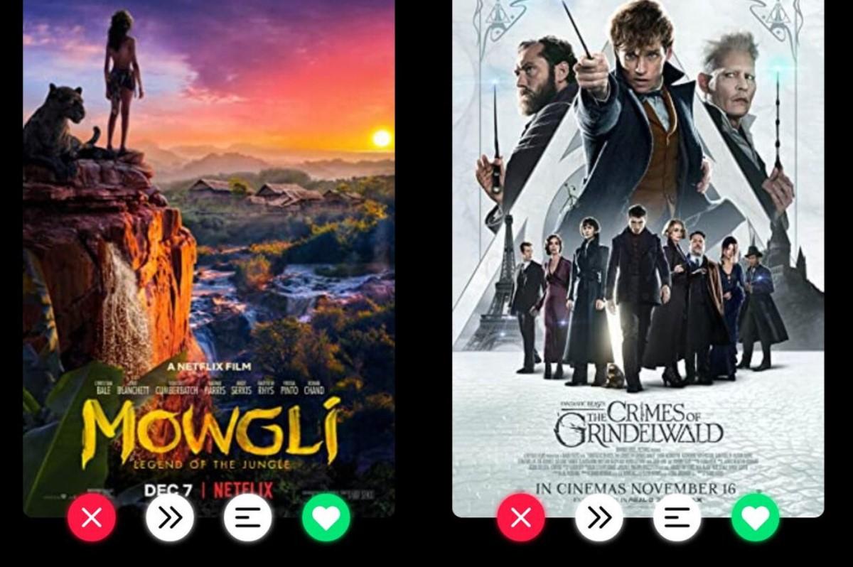 Movie Swiper, una aplicación al estilo Tinder que te ayudará a elegir qué película ver con tus amigos