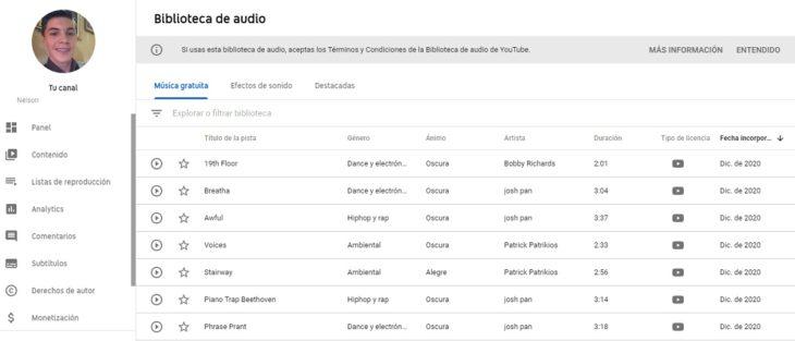 Música y efectos de sonido gratuitos