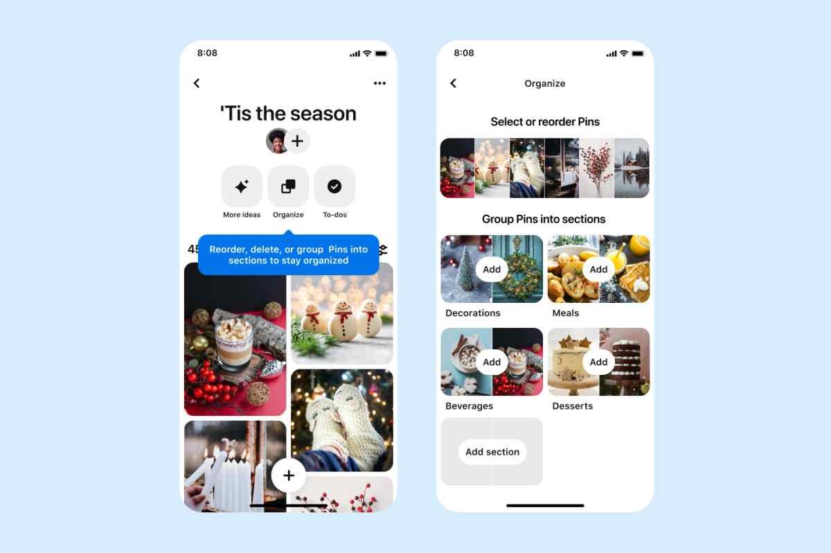 Pinterest trae nuevas funciones para gestionar los tableros
