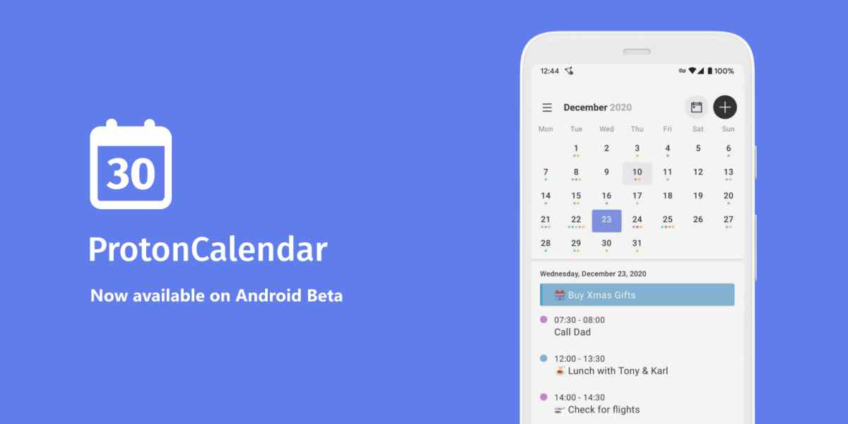 Llega la app independiente de Proton Calendar (de ProtonMail) a Android