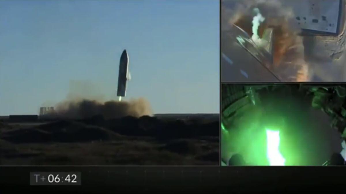 Starship de SpaceX realiza su mayor prueba de altitud aunque explota en su aterrizaje