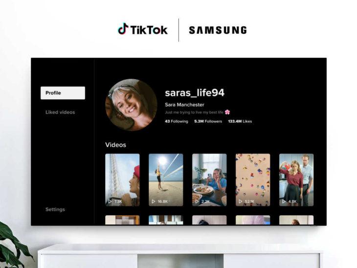 TikTok TV Samsung