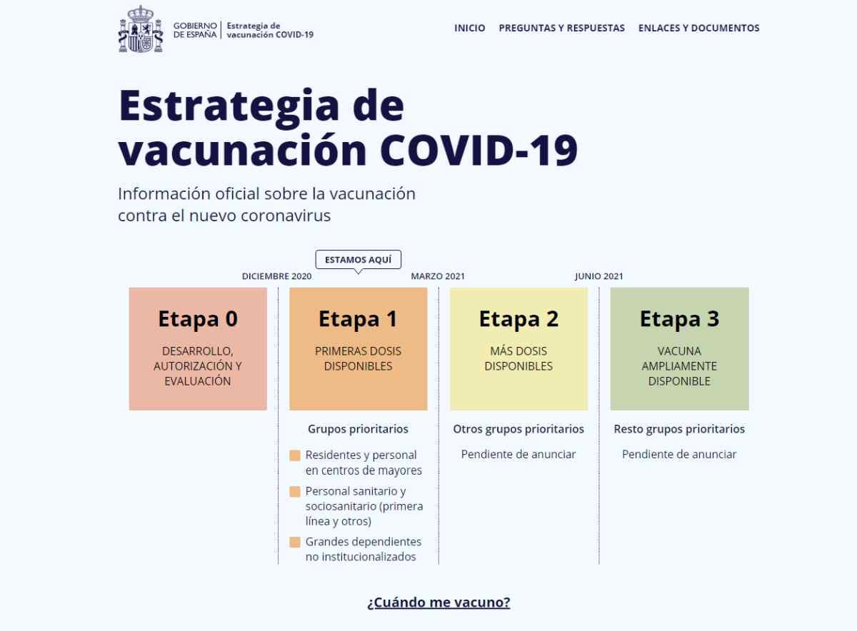 España lanza portal web con información oficial sobre las vacunaciones