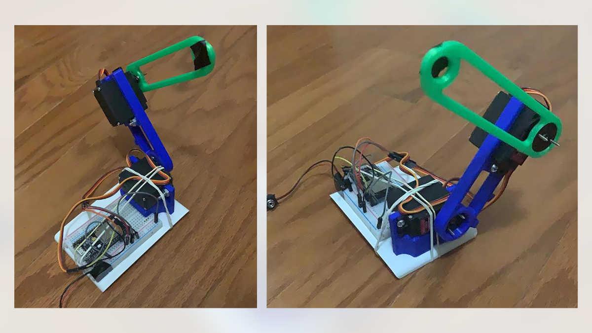 Un brazo robótico de bajo costo, desarrollado en México