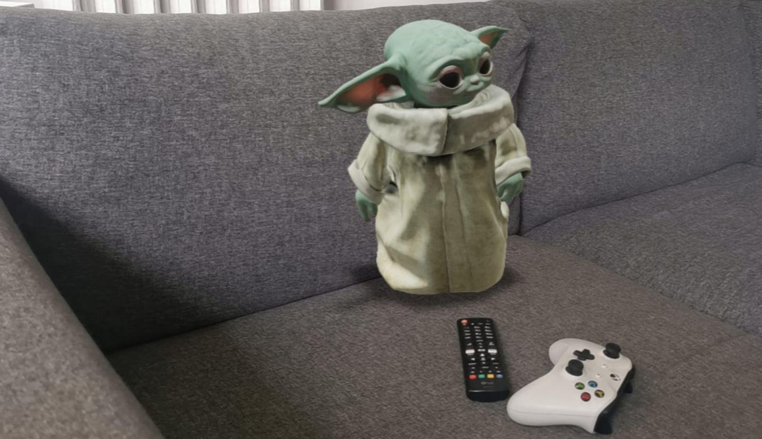 Cómo poner a Grogu – Baby Yoda en el salón de tu casa con Realidad Aumentada, paso a paso