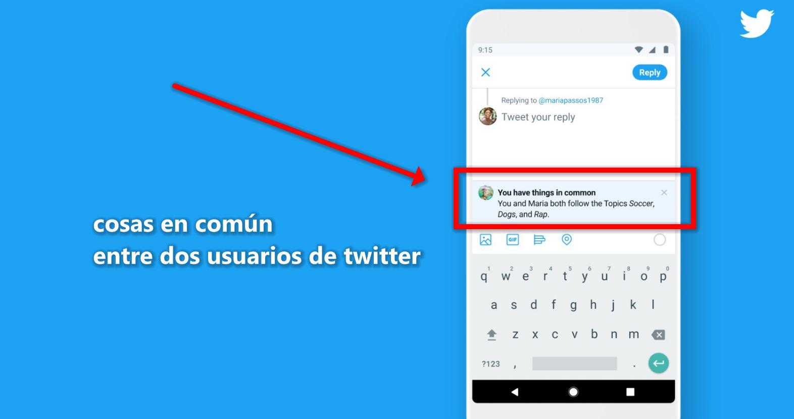 Twitter nos dirá lo que tenemos en común con otro usuario para facilitar el networking
