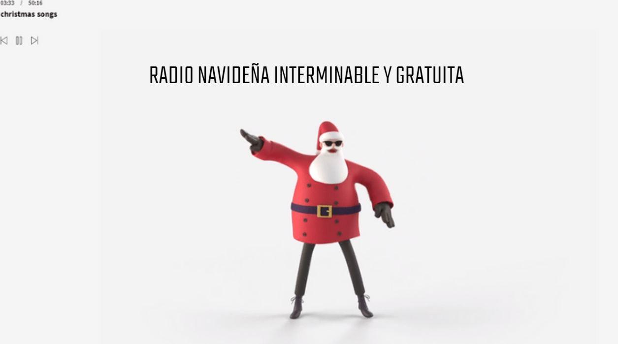 Una radio de canciones de Navidad, online e infinita