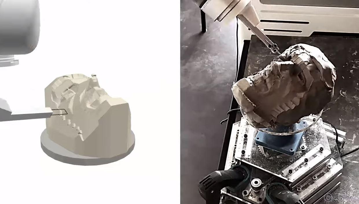 Robots que aprenden a esculpir, lo nuevo de Disney