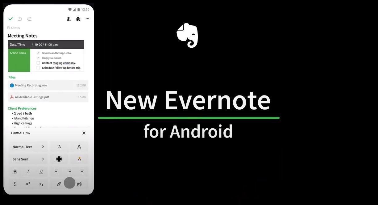 Evernote lanza nueva versión para Android