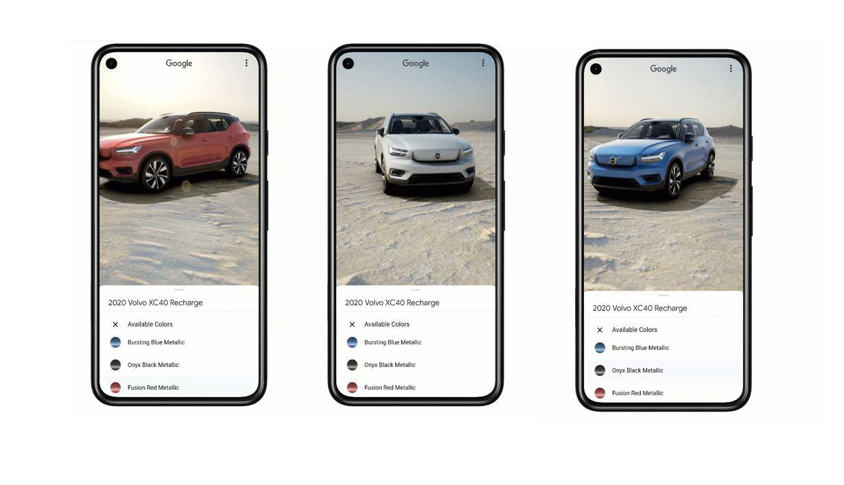 Google ya permite ver modelos de coches en 3D con todo lujo de detalles