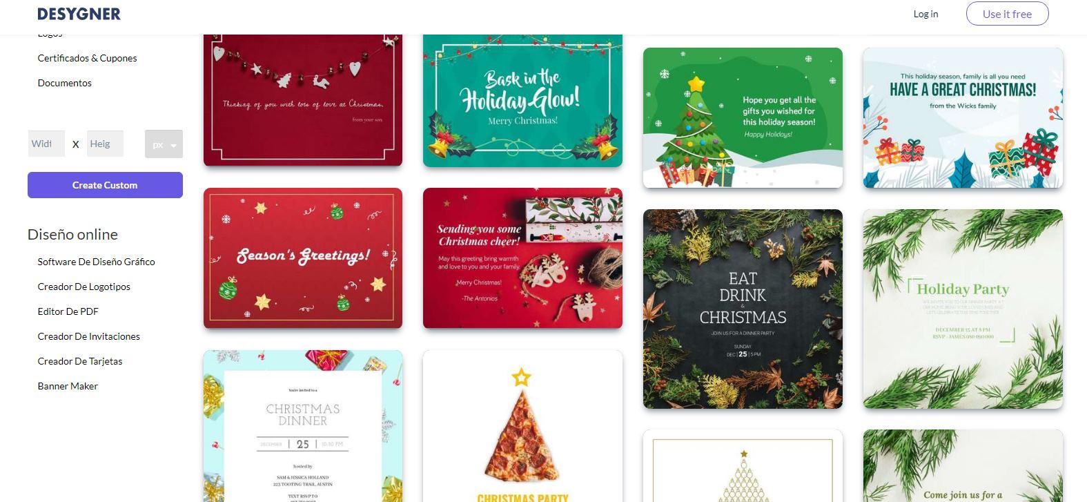 Cómo hacer tarjetas de Navidad usando Desygner