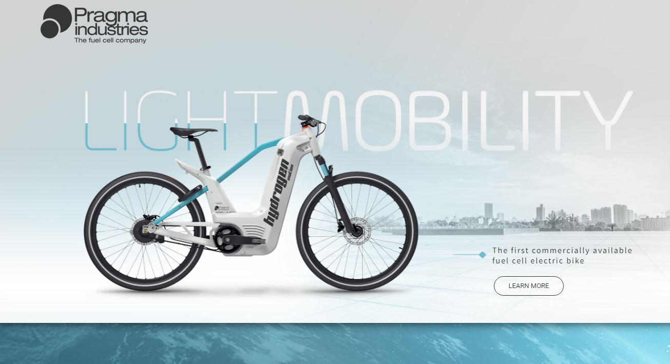 Una bicicleta eléctrica que usa agua como combustible