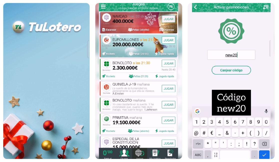 Cómo comprar lotería de Navidad en TuLotero y repartir participaciones