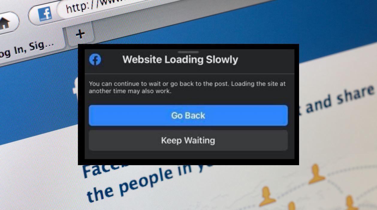 Facebook avisará si detecta que una web es lenta