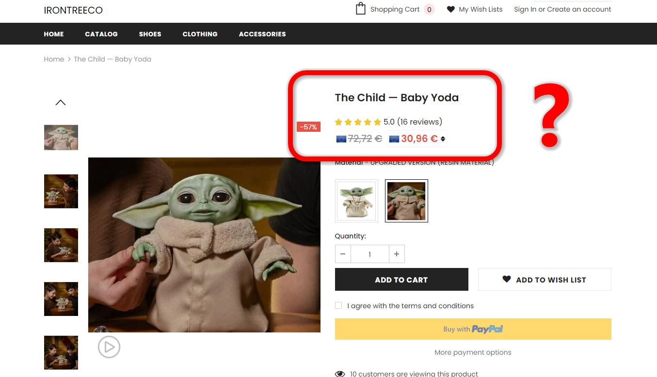 Baby Yoda Irontreeco