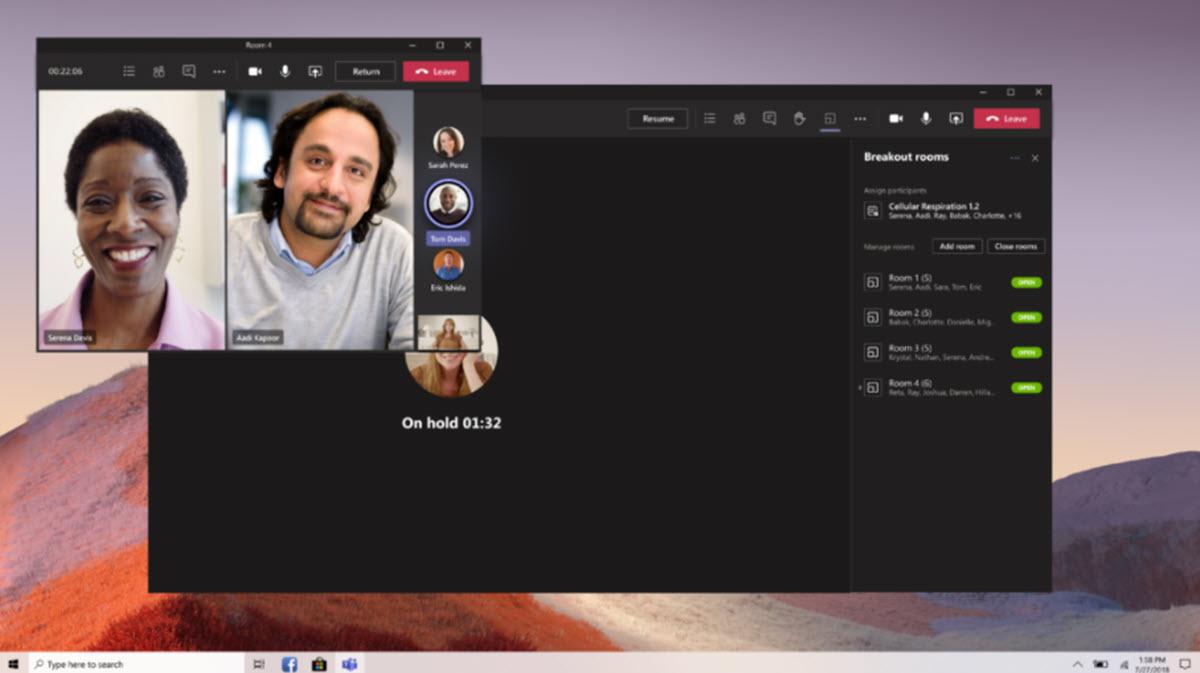crear salas en Microsoft Teams
