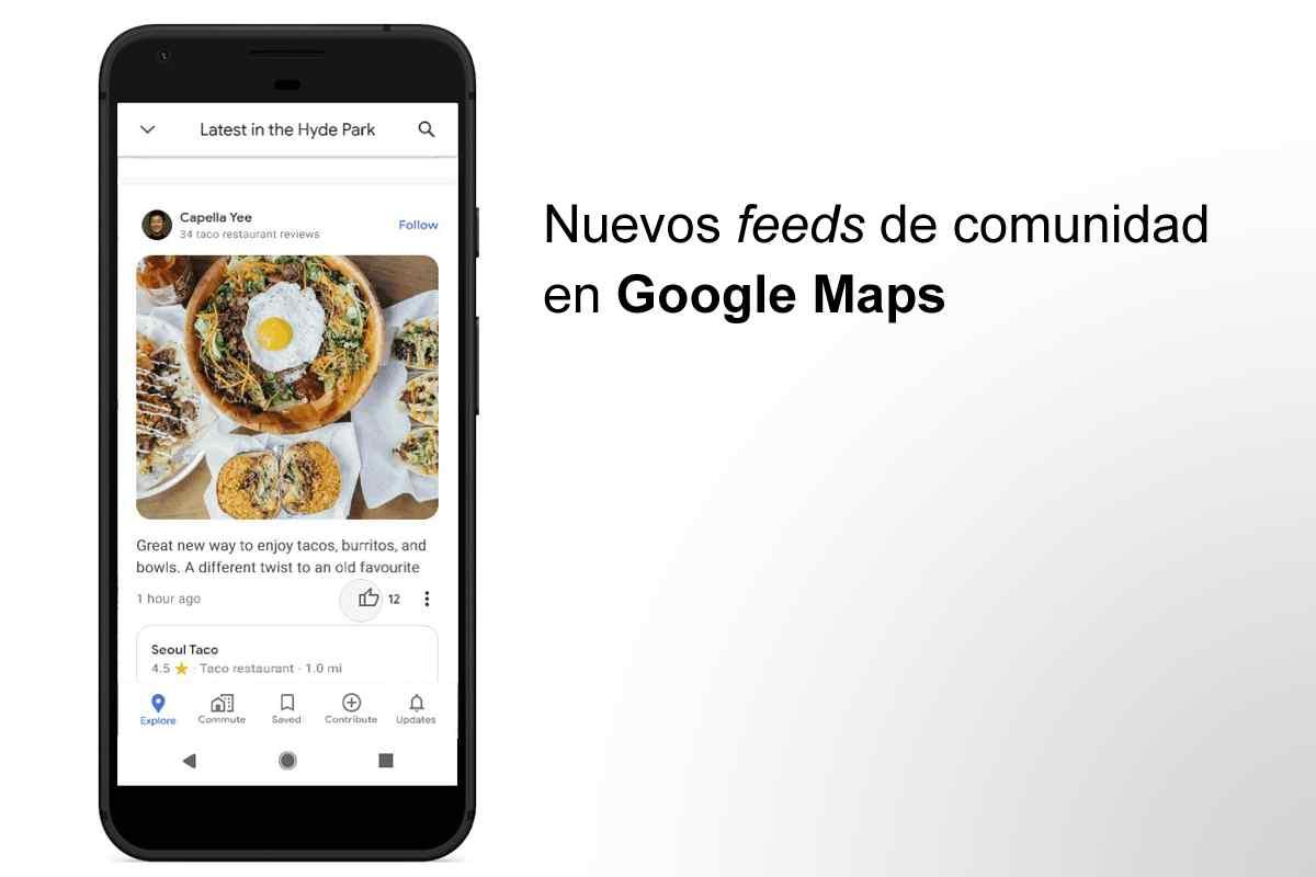 Feeds de comunidad en Google Maps