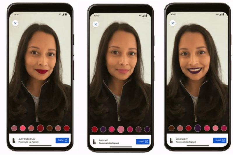 maquillaje realidad aumentada Google
