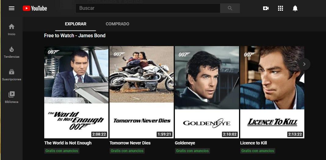 películas de Jame Bond