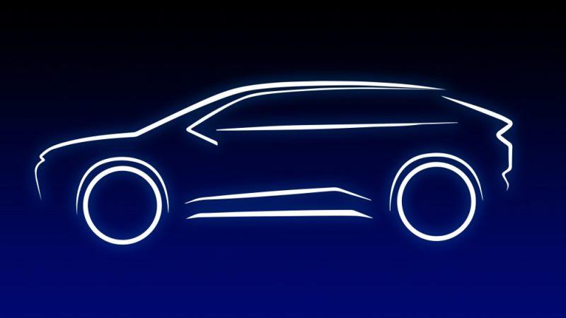 silueta coche electrico SUV toyota
