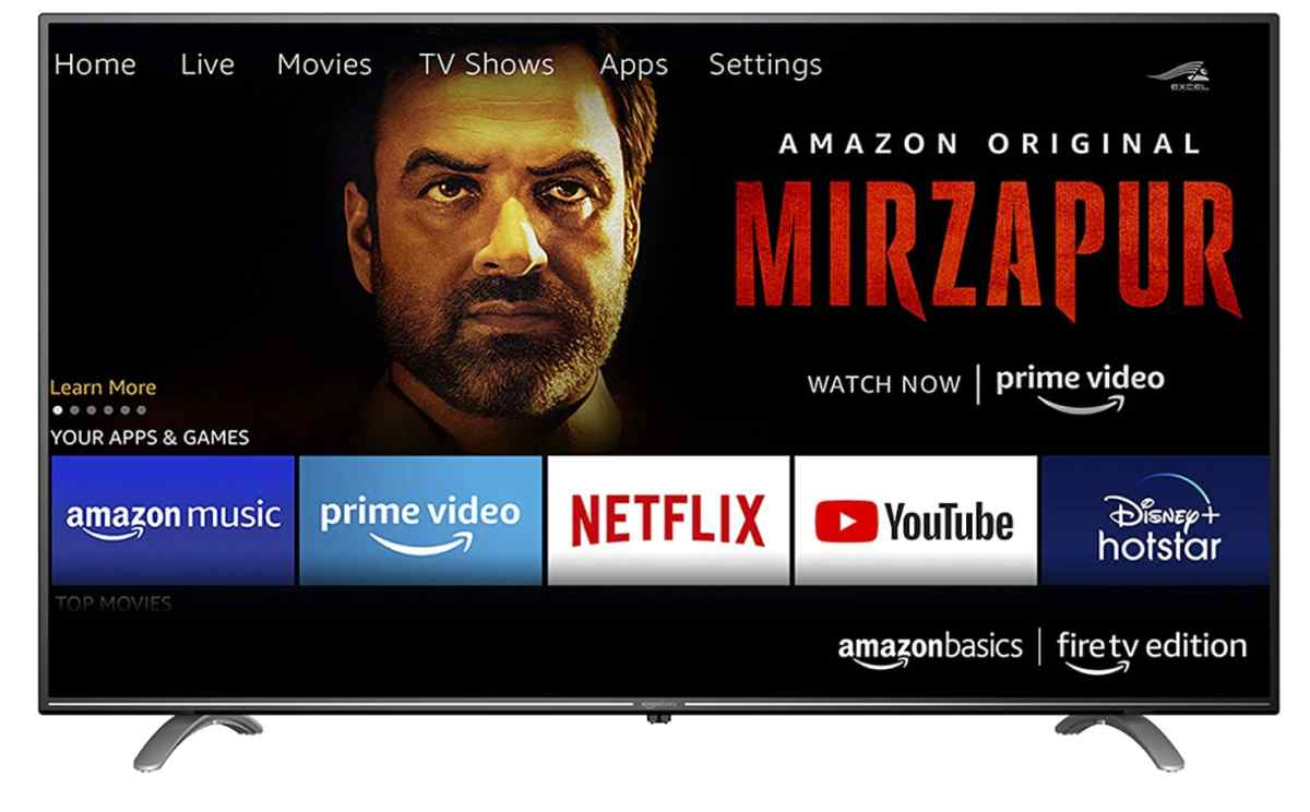 Amazon lanza sus primeros televisores bajo la marca Amazon Basics en la India