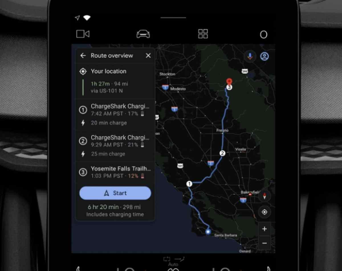 Google Maps ayudará en la planificación de las rutas para los vehículos eléctricos