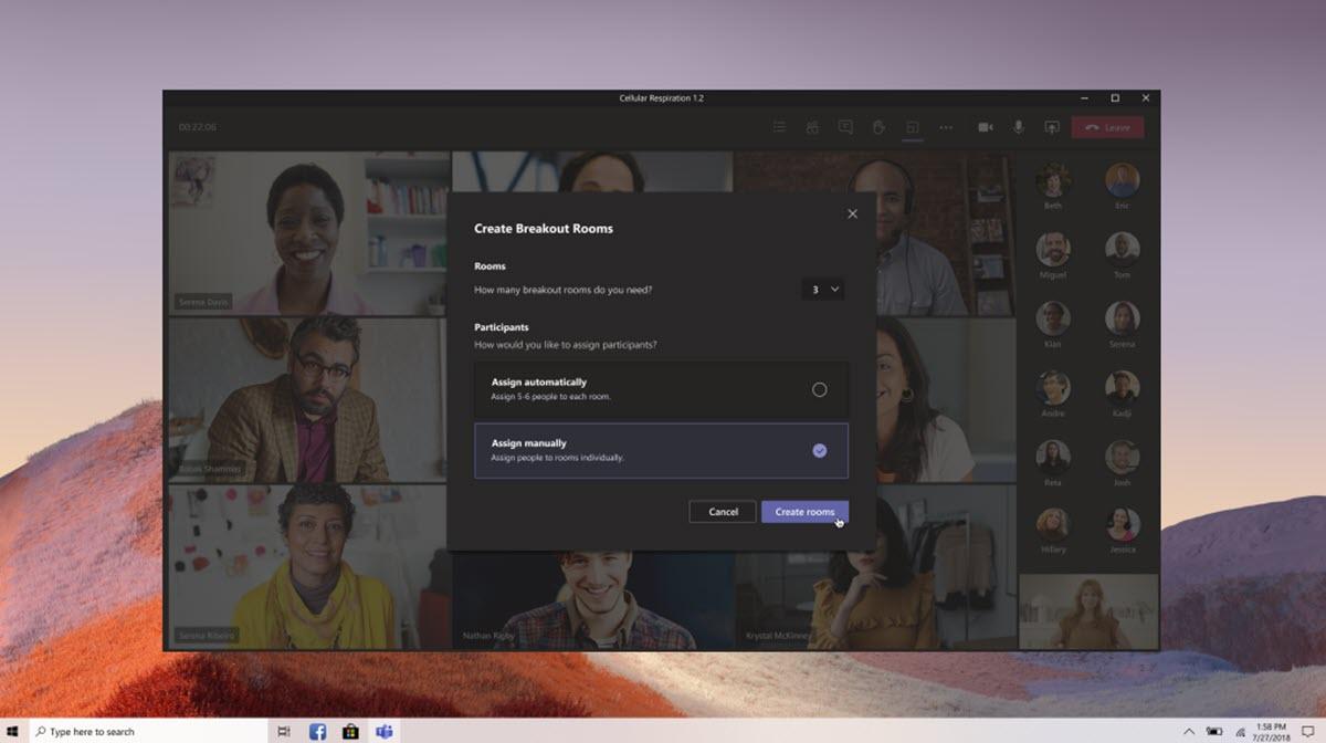 Microsoft Teams ya permite crear salas de grupos para las clases online