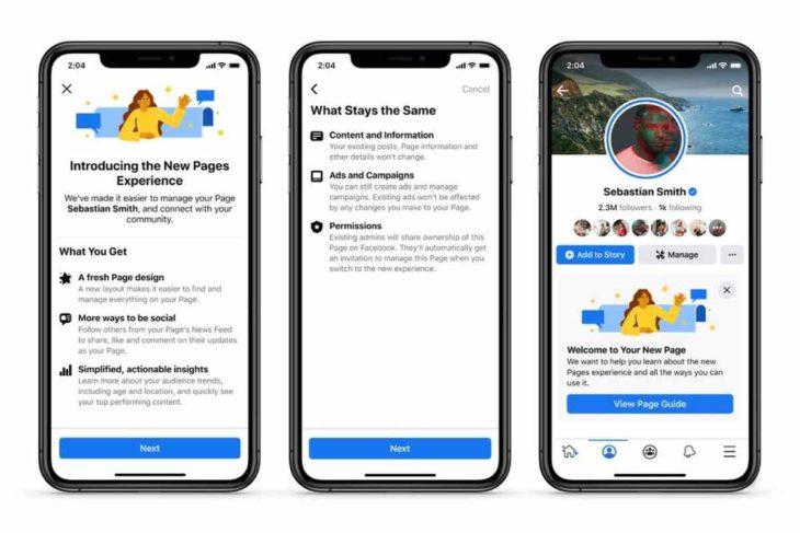 La Nueva Experiencia para las Páginas de Facebook