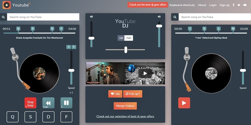 Mejores reproductores y mezcladores de música online para utilizar con canciones de YouTube