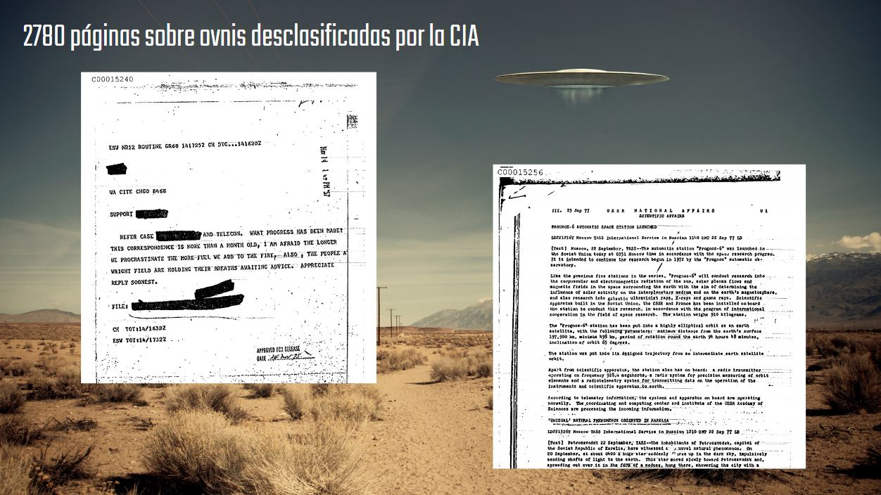 La CIA desclasifica 2.780 páginas de documentos de OVNIS, y se pueden descargar gratis