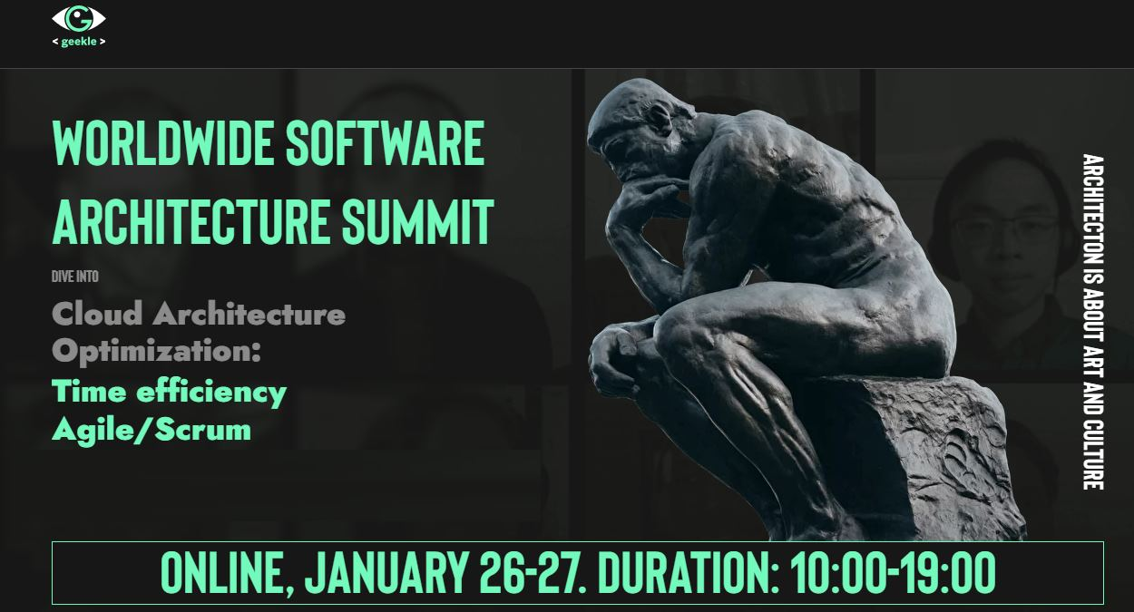 Worldwide Software Architecture Summit – Un evento online para profesionales del Software