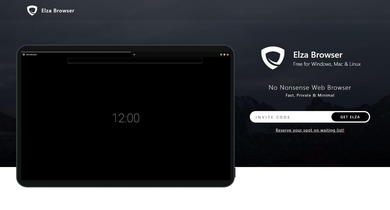 Elza Browser, un navegador que apostará por la privacidad, con modo Tor disponible