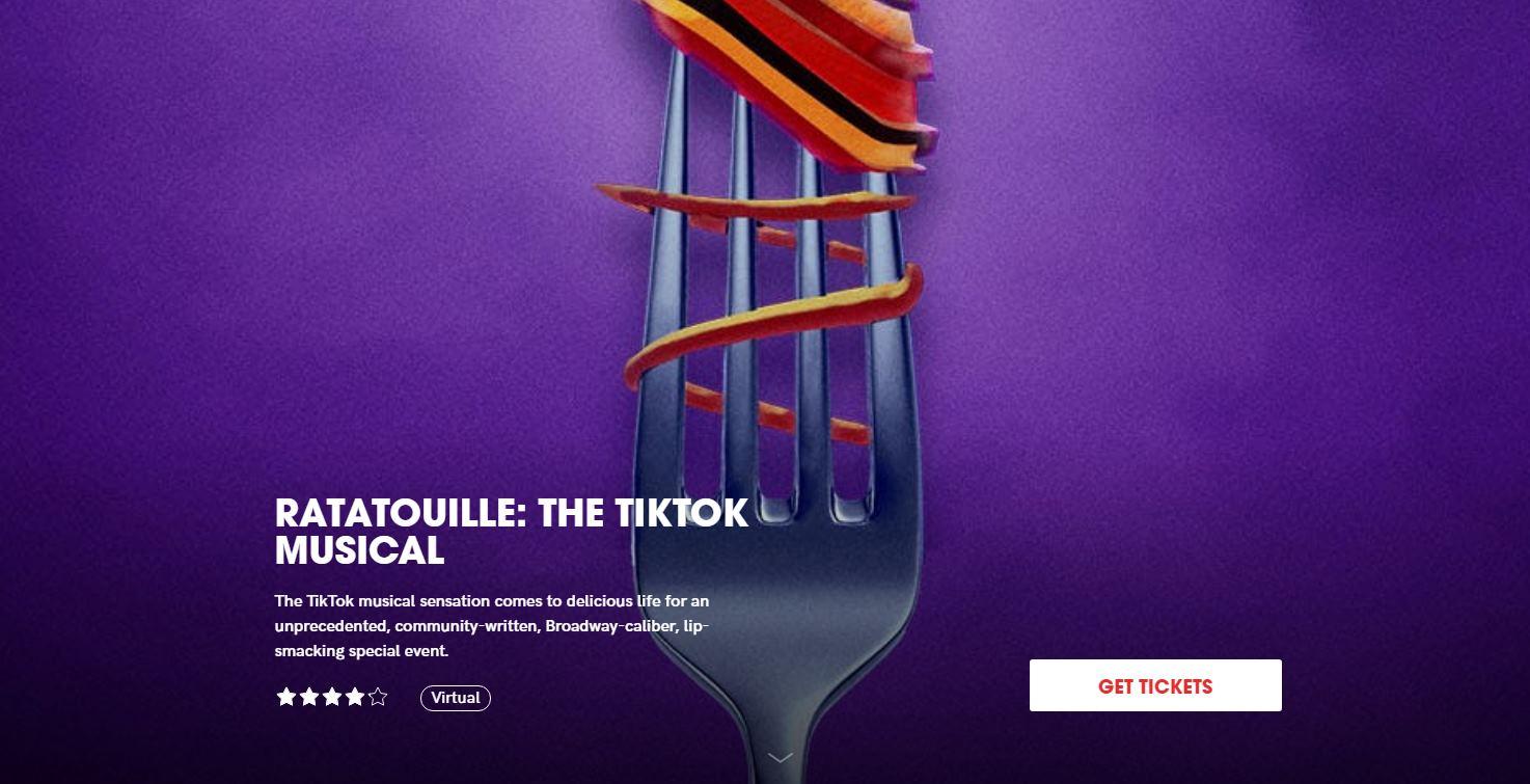 Broadway y TikTok se unen para hacer el musical de Ratatouille
